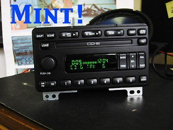 FORD 6 CD DISC CHANGER RADIO STEREO EXPLORER MUSTANG MOUNTAINEER 01 02