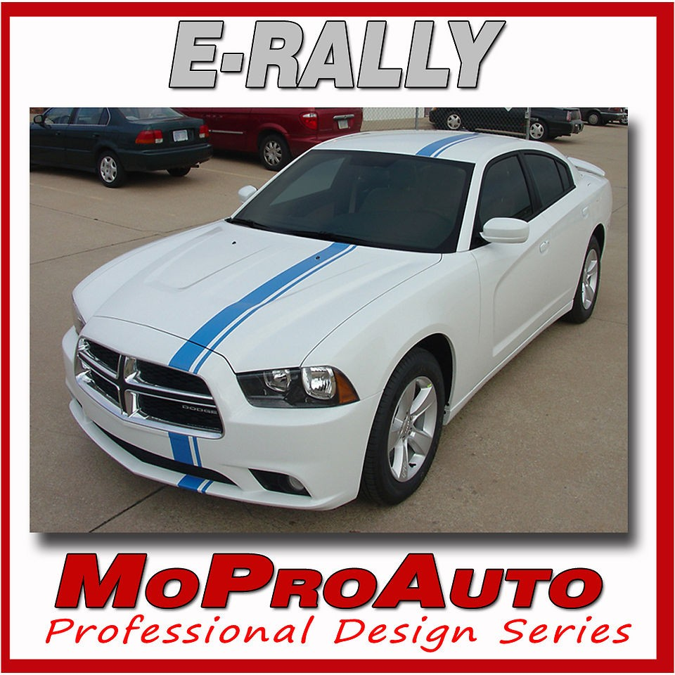 2013 Dodge Charger E RALLY Racing Hood Stripes Decals   Pro Grade 3M