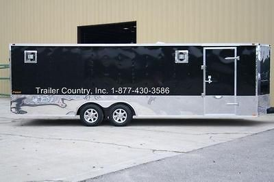 24 8.5X24 ENCLOSED CARGO CAR HAULER TRAILER   STAGE 2 RACE PACKAGE