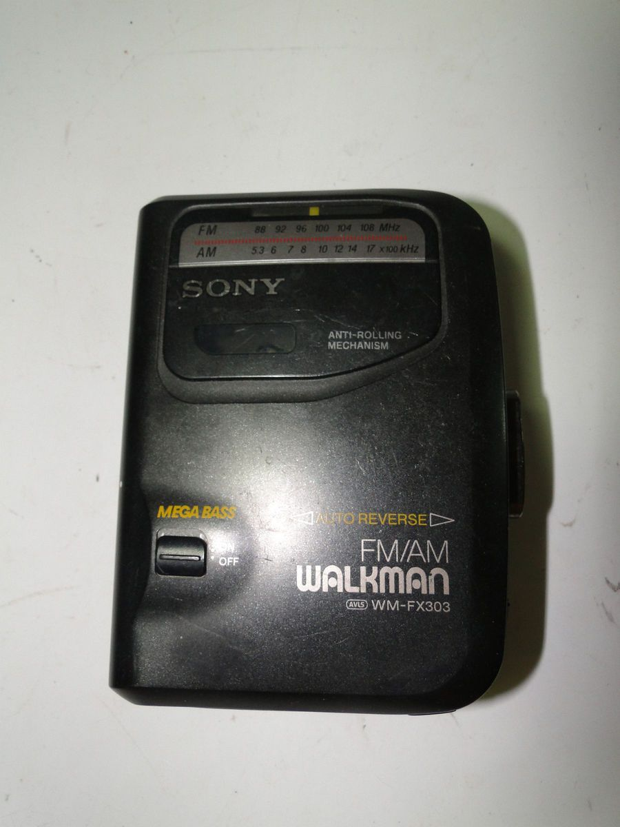 Sony Walkman Am FM Radio Cassette Player Wm FX303 Mega Bass
