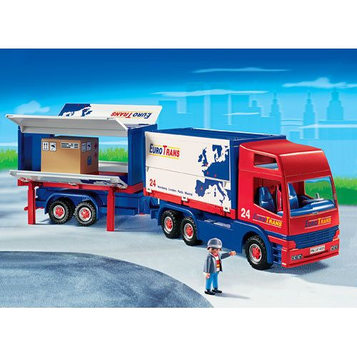 PLAYMOBIL EUROTRANS SEMI TRUCK Big Rig + Trailer 4323 City RC