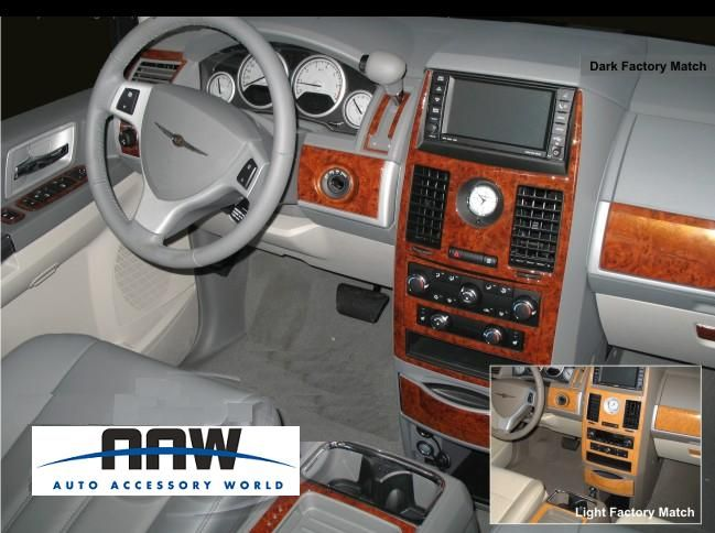 Chrysler Town Country LX Touring Interior Wood Dash Trim Kit 2008 2009
