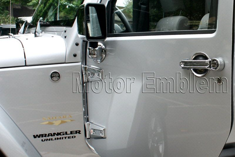 Jeep Wrangler 2 Door Chrome Hood Door Hinge Cover 2007 2011 JK2