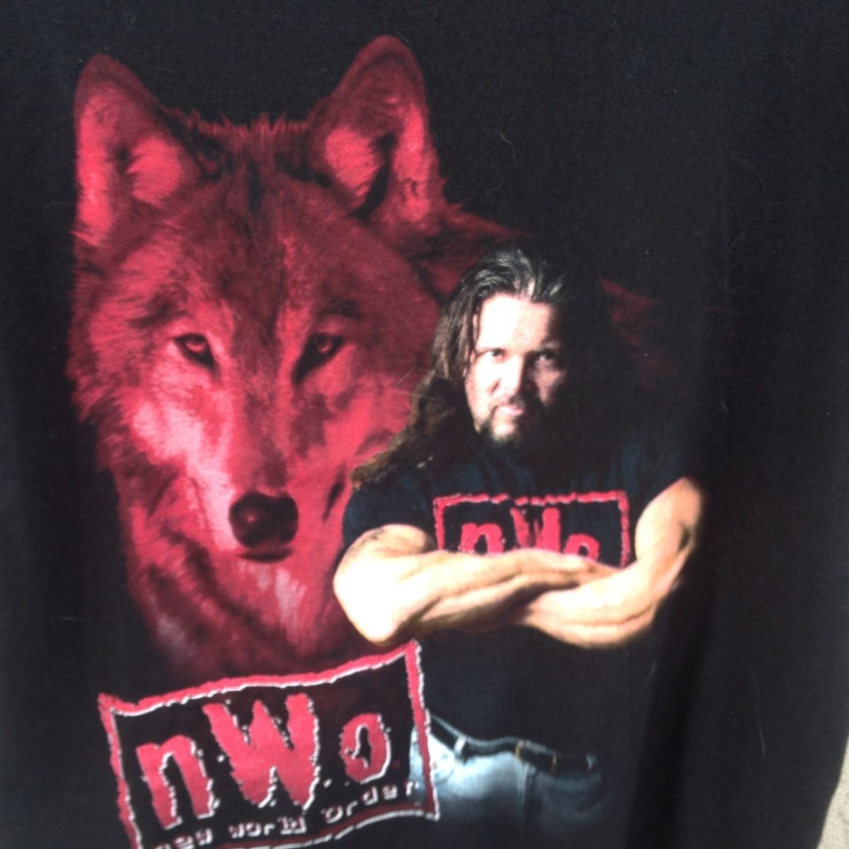 Kevin Nash Big Sexy Wolf Pack NWO WWE Wrestling T Shirt Vintage XL