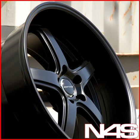 G35 Coupe Avant Garde M350C Matte Black Staggered Rims Wheels