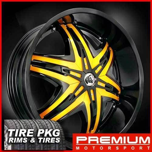 30 Diablo Wheels Rims and Tire Chevy Ford Dodge RAM Rim Tahoe F150