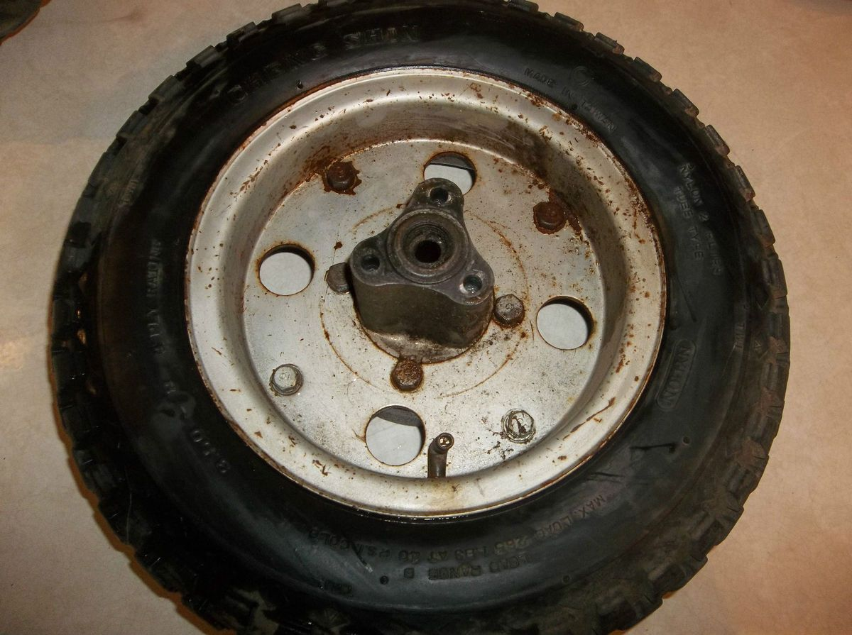 71 Honda Z50 Mini Trail Rear Wheel Rim Tire 50 K2 B019