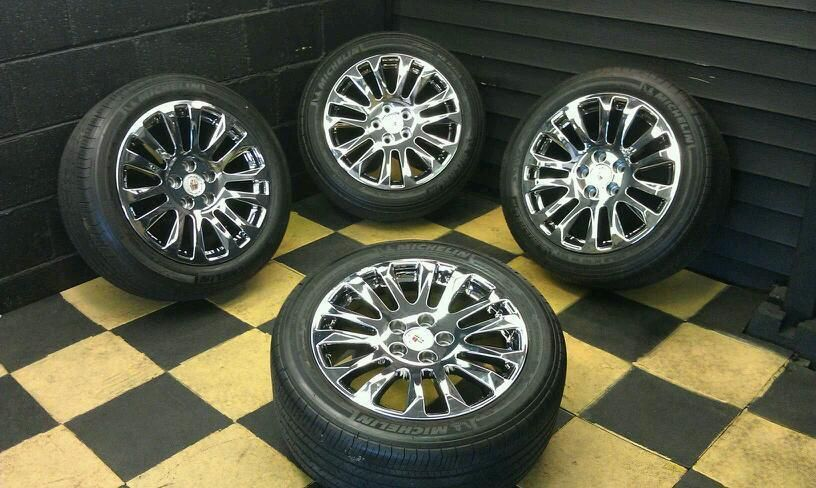 18 Cadillac cts Coupe PVD Wheels Rims Tires 4669 4673
