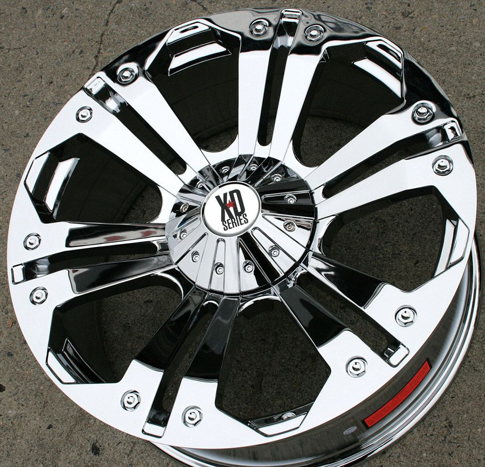XD Series Monster 778 24 Chrome Rims Wheels Hummer H2 8H 00 10
