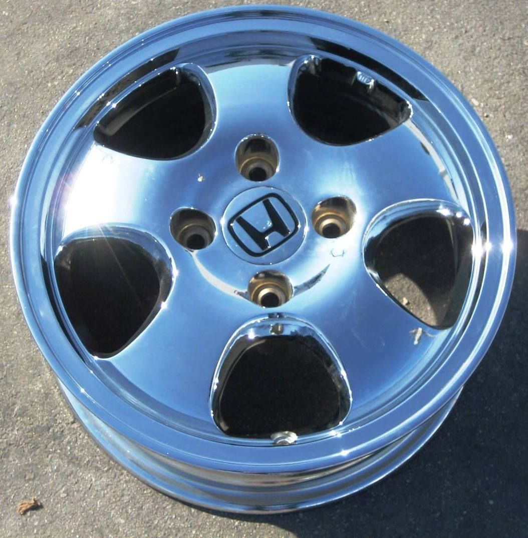 15 1997 Factory Honda Accord Chrome Alloy Wheel Rim 63760 1 Single
