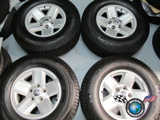 02 03 Dodge RAM 1500 Factory 17 Wheels Tires OEM 2165 Michelin LTX 265